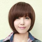 Non-mainstream wig wig short straight hair short girls, black, dark brown