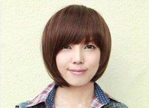 Non-mainstream wig wig short straight hair short girls, black, dark brown