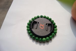 Natural green Cuiyu. Bracelet. 8MM beads, 24 beads rosaries.