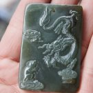 The natural oil jade.Amulet (Lung, mice) pendant.2012 is the Year of the Dragon.