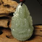 Natural and Tian Qingyu, hand-carved amulet.(Large Tathagata) Buddha. Pendant Necklace
