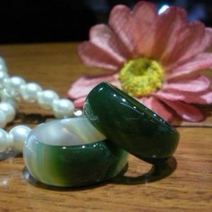 Natural color agate.Carved colored agate ring. Ring.Unisex (pair price)