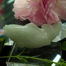 Natural light white jade. Hand-carved carp. Pendant. Auspicious pendant necklace.