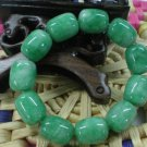 .HAN green and white jade, carving, 11 cylindrical beads (bracelets)