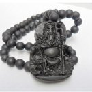 Natural Si Bin Stone, amulets, pendants. Guan Yu. Seiko carved pendant necklace.