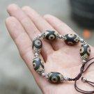 Longan Tibet Tianzhu bracelet.6 drum-shaped beads + Tibetan silver lantern spacers. Hand-woven,