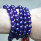 Tibetan Buddhism beads bracelet, 12mm blue jade, 108 beads, meditation yoga