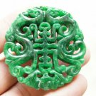 Green Jade, Ssangyong send blessing to send a (life).(Amulet).Necklace pendant.