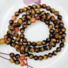 Tibetan Buddhist prayer beads - natural yellow Tiger Eye the 8MM bracelet, 108 yoga meditation