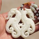 Handmade carving, natural white jade ancient jade antique jade, necklace, pendant.