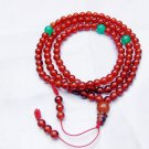 Natural red agate bracelet, 6 mm beads, Tibetan Buddhist prayer beads, meditation, yoga beads.
