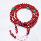 Natural red agate bracelet, 6 mm beads, Tibetan Buddhist prayer beads, meditation, yoga beads.