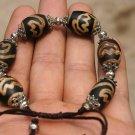 Lotus Tianzhu bracelet.6, Tibet the beads + Cangyin lanterns interval. Hand-woven,