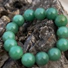 Natural oil green jade, handmade, 12 mm, 14 yuan bead bracelets, rubber band string