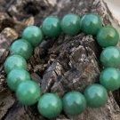 Natural oil green jade, handmade, 12 mm, 14 yuan bead bracelets, rubber band string