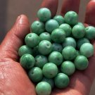 Handmade, green and white Cuiyu, beads, and a diameter of about 13 mm (as a 50)