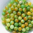 Red, green and yellow jade beads, a single diameter of about 13 mm (40 to a pack)
