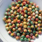 Seven color jade beads, a single diameter of about 10 mm (40 to a pack)