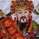 Cross-stitch finished Fortuna Kung Hei Fat Choy pure hand-embroidered. 116x69CM