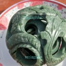 Natural the Lushan jade dragon and phoenix transporter ball.4-layer rotating spheres in ornaments