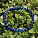 Natural lapis lazuli, a blue bead bracelet gold sand. Rubber band strung 6 mm 32