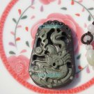 Natural purple jade. Hand-carved (amulet) dragon. Necklace Pendants 47x30x8mm