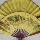 Folding fan, silk fan, a variety of patterns. It supplies goods, collectibles