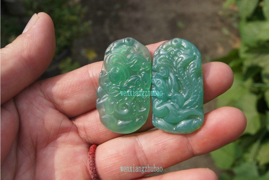 Green agate pendant. Sabrina. Manual sculpture Amulets, couple necklace pendant.