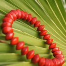 Red Pu Tizi bracelet, beads. Operators plant type, 8x6mm, Yoga Mala Meditation