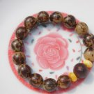 Natural flower Tizi root bracelet. Mara meditation, yoga, 12 mm 15 yuan beads. Rubber band strung