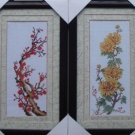Plum orchid , bamboo and chrysanthemum four gentlemen painting. Cross Stitch 20 X 45CM