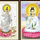 Sitting dripping Guanyin Bodhisattva ( check one ) cross-stitch finished painting the living room