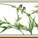 Bamboo bird ( ethical ) cross-stitch finished painting the living room 60x30cm