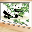 Giant Panda ( bamboo ) cross-stitch finished painting the living room 45x31cm