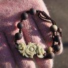Manual sculpture Natural purple jade, double pig GongFu bracelet