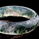 Manual sculpture Natural aquatic agate bracelet.