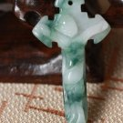 Hand carved jade Christianity Jesus to the cross. amulet Lucky pendant necklace