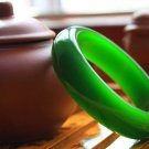 Spinach green jade bracelet (expand) beautiful women's favorite