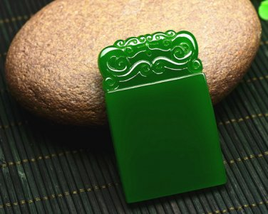 Bright green jade Talismans (safe). Lucky pendant necklace (paragraph 2)