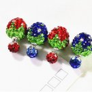 925 sterling silver diamond type strawberry bead dual-use stud earrings beautiful lady's choice