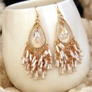 Bohemian long tassels droplets sexy stud earrings. The choice of beautiful lady