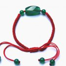 "Manual red king kong ""green diamond agate bead lucky bracelet"