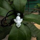 Natural white jade, hand-carved, lucky charms. Angel · pendant necklace