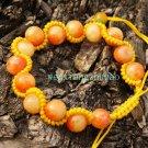 Handmade snake bracelet, cherry red jade beads