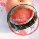 Agate vintage charm bracelet, dark green, irregular patterns