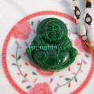 The natural green jade has a long life. Talisman. Pendant necklace,