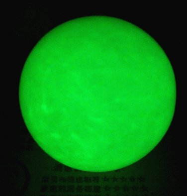 Genuine natural luminous stone (pearl). Fluorite blue green noctilucent ball. Furnishing articles