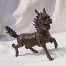 Small set of vintage bronze unicorn. Xiangrui animal decoration (the treasure of the town)