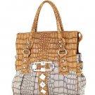 Fancy Rich Croc Embossed Annashons Handbag