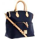 AUTHENTIC Dooney & Bourke Cork 2 handbags in 1 purse Navy Blue